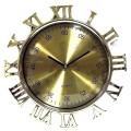 Часы римские цифры снаружи под золото